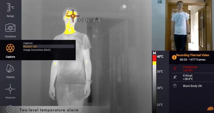 Febre da câmera de imagem
