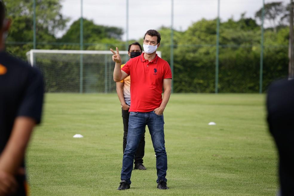 Diretor médico do Sport, Stemberg Vasconcelos — Foto: Anderson Stevens / Sport Club do Recife
