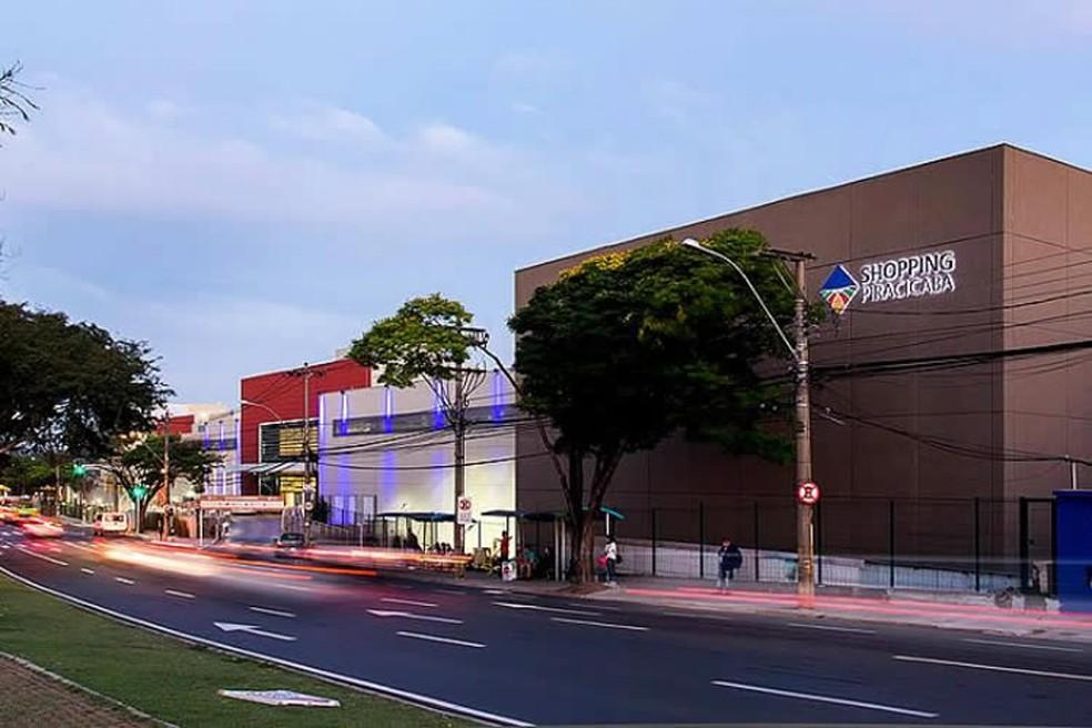 Fachada do Shopping Piracicaba: centro de compras vai retomar atividades com restriçõe — Foto: Divulgação/ Shopping Piracicaba