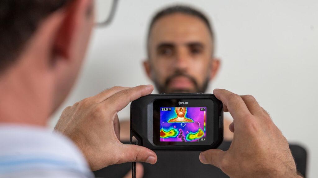 tratar lesões camera termografica